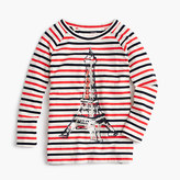 J.Crew Girls' glitter Eiffel Tower striped T-shirt