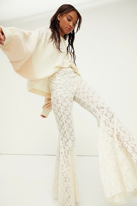 Free People Electric Lace Flare Pants