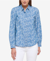 Tommy Hilfiger Cotton Printed Shirt, Only at Macy's