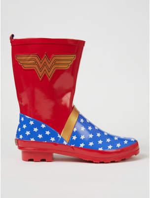 Dc Comics George Wonder Woman Calf High Wellington Boots
