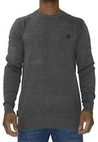 Voi Jeans New Mens Designer Crew Neck Jumper Harris Charcoal