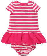 Ralph Lauren Striped Jersey Dress & Diaper Cover