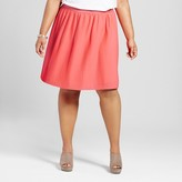 Merona Women's Plus Size Pleated Skirt Coral