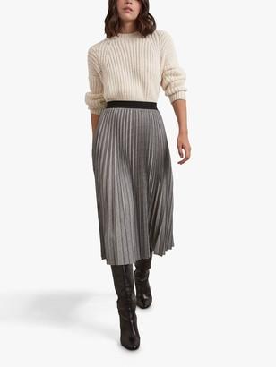 Gerard Darel Myrtille Pleated Midi Skirt, Silver