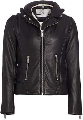 Doma Molly Hooded Leather Jacket