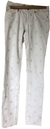 Marc by Marc Jacobs White Cotton Jeans for Women