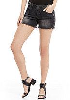 Silver Jeans Co. Berkley Frayed Hem Super Stretch Denim Shorts