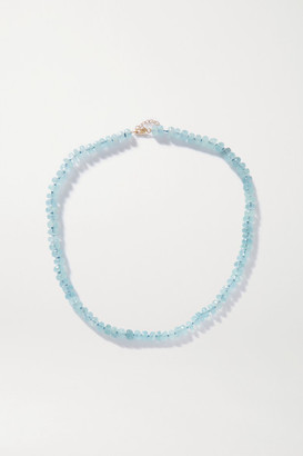 JIA JIA Oracle Gold Aquamarine Necklace - Blue