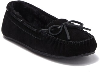 Minnetonka Junior Trapper Faux Fur Moccasin Slipper