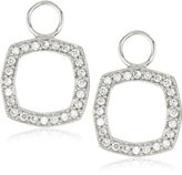 "KC Designs Charmed Life"" Diamond 14k White Gold Cushion Shape Ear Charm"