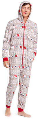 Matching Family Pajamas Men Polar Bear Hooded Pajamas