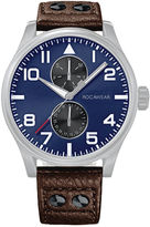Rocawear Mens Brown Strap Watch-Rm3003s1-709