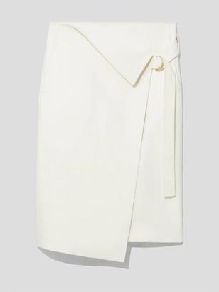 Proenza Schouler Cotton-Blend Suiting Wrap Midi Skirt