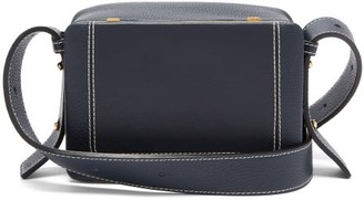 Lutz Morris Maya Large Grained-leather Cross-body Bag - Navy