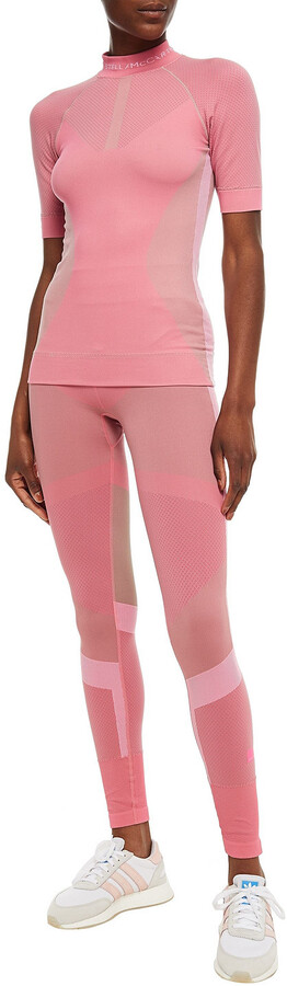 Thumbnail for your product : adidas by Stella McCartney Cutout Printed Stretch-jacquard Top
