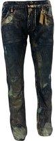Robins Jean Robin's Jean Men's w/ Aurum & Sapphire Swarovski Jeans D5698-LF863-5-8 32