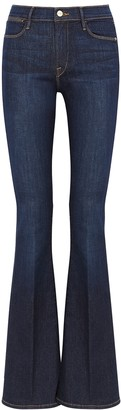 Frame Le High Flare Dark Blue Jeans