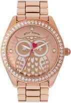 Betsey Johnson Women's Rose Gold-Tone Bracelet Watch 40mm BJ00048-167