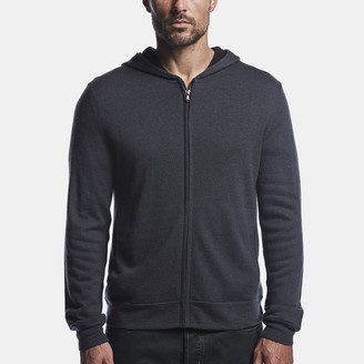 James Perse Mesh Lined Cashmere Hoodie