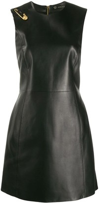 Versace Safety Pin Leather Dress