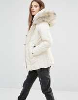 G Star G-Star Alaska Padded Coat with Faux Fur Hood