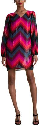 Trina Turk Hitachi Zigzag-Print Dress