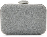 La Regale Grey Caviar Beaded Mini Clutch