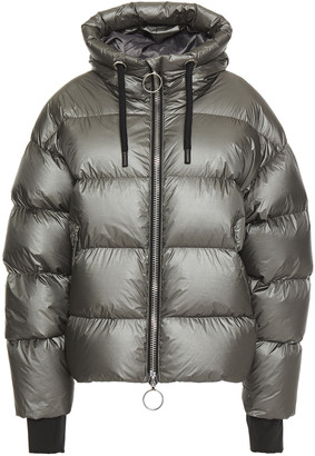 Ienki Ienki Dunno Holographic Quilted Shell Down Hooded Jacket