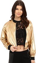 Bench Jess Glynne x Women's RatherBe Cropped Reversible Bomber Jacket