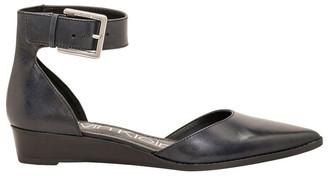 Calvin Klein Tamina Black Leather Flat Shoes