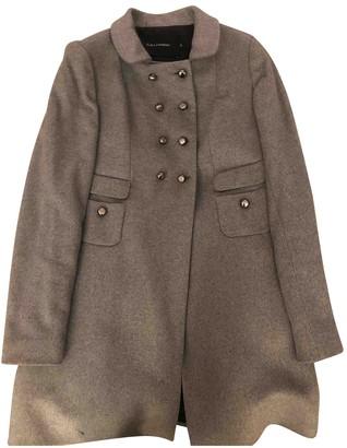 Tara Jarmon Grey Wool Coat for Women