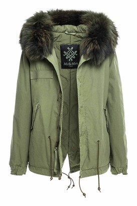 Mr & Mrs Italy Fw20 Icon Parka: Army Mini Parka Raccoon Fur