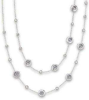 Ippolita Sterling Silver Rock Candy Mini Lollipop Necklace in Clear Quartz, 37