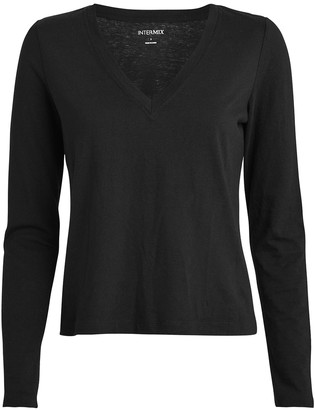 Intermix Classic Long Sleeve V-Neck T-Shirt