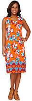 Isaac Mizrahi Live! Tropical Floral Midi Dress