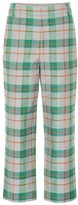 Tibi Plaid cotton-blend pants
