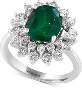 Effy Final Call Emerald (2-1/8 ct. t.w.) and Diamond (1-1/5 ct. t.w.) Ring in 14k White Gold