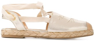 Charlotte Olympia Kitty embroidered espadrilles