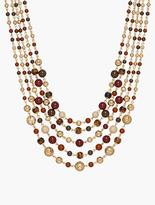 Talbots Mixed-Bead Cluster Necklace