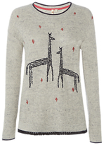 White Stuff Canter Embroidered Jumper, Grey