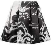 Alice + Olivia Pleated Satin Mini Skirt