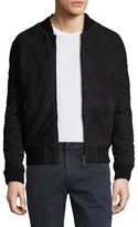 Scotch & Soda Suede Diamond Quilted Bomber Jacket