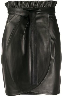 BA&SH Luna mini wrap skirt