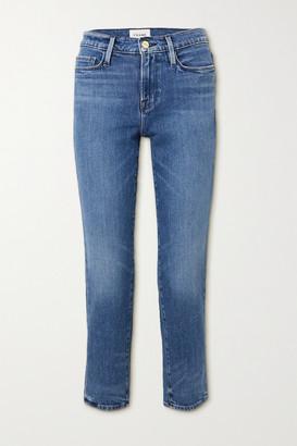Frame Le Nouveau Mid-rise Straight-leg Jeans - Blue