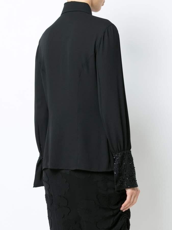 Natori embellished sleeve shirt