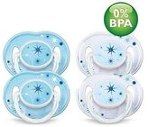 Philips Avent Night Time Pacifiers (0-6 Months)- 4 pk