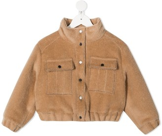 BRUNELLO CUCINELLI KIDS Faux Fur Down Jacket