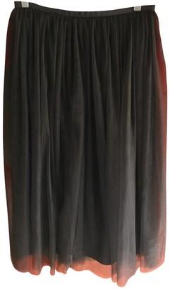 Les Prairies de Paris Black Cotton Skirt for Women