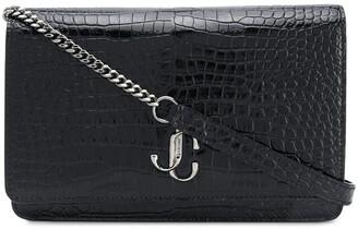 Jimmy Choo mini Palace croc-effect crossbody bag