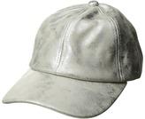 Steve Madden Metallic Faux Leather Baseball Cap Caps